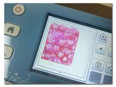 Erin Bassett - Valentine Gelli Plate Art ScanNCut