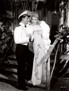"John Wayne and Marlene Dietrich ""Seven Sinners"""