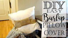DIY Easy Burlap Pillow Wrap