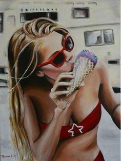 "Saatchi Art Artist Maria Folger; Painting, ""summer"" #art"
