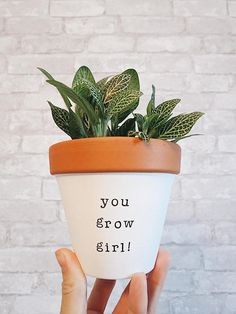 Lecturers Reward Reward For Pal Moms Day Small Enterprise Proprietor you go lady hand painted terracotta pot clay planter pottery planter Big Plants, Exotic Plants, Potted Plants, Indoor Plants, Painted Flower Pots, Painted Pots, Hand Painted, Container Plants, Container Gardening