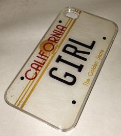 California Girl State License plate heart iPhone 4 4S CLEAR plastic case on Etsy, $10.49