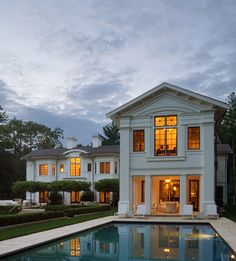 Neoclassical Architecture, House On A Hill, Window Design, Big Houses, Landscape Design, Villa, Yard, Exterior, Mansions