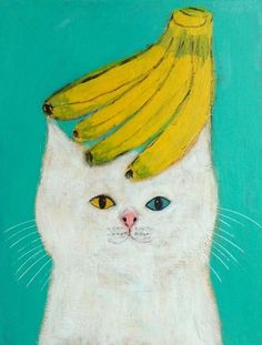 Cats in Art and Illustration Art Inspo, Kunst Inspo, Art And Illustration, Chat Web, Banana Art, Wow Art, Crazy Cats, Art Photography, Drawings