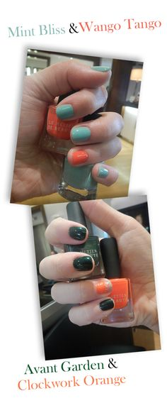 the top one is a less irish-y take on saint patrick's day nails i can do the ireland flag