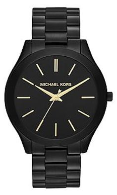 Michael Kors Slim runway watch. I tried this on in-store and I'm dying!!!