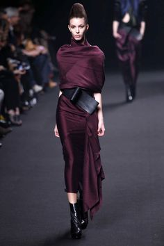 Haider Ackermann...beautiful draping...love the color!
