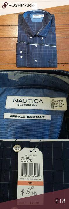Nautica Button Down Shirt 3XL NWT Nautica button down shirt size 3xl. Brand new. Nautica Shirts Casual Button Down Shirts