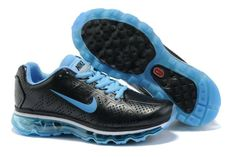 Nike Air Max 2013 Leather Men Black Silver $59.00 (Be nice to find these in all black for work.)