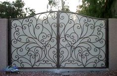 iron gates designs with privacy screen | Iron Special ...