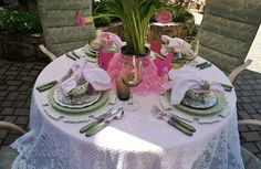 Mother's Day table including Pier 1 Carved White Chargers
