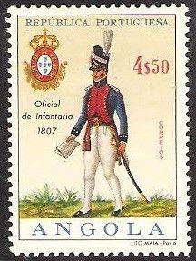 Stamp: Infantry Officer, 1807 (Angola) (Military Uniforms) Mi:AO 532,Sn:AO 520,Yt:AO 527,Afi:AO 509