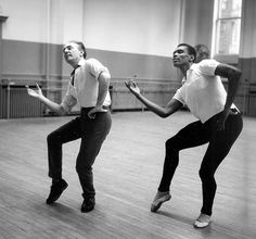 George Balanchine and Arthur Mitchell - saw Geo Balanchine from a distance while at NY School of Ballet.