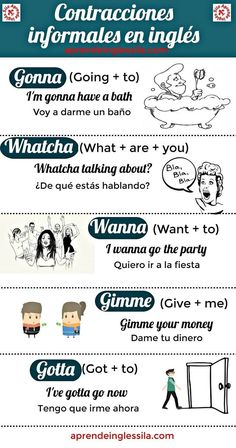 Contracciones informales en engles