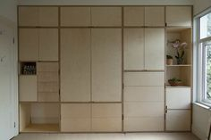 For the Home Birch Ply Wardrobe - Der moderne Schreiner Increase Curb Appeal With Flowering Shrubs a Alcove Wardrobe, Wardrobe Wall, Bedroom Built In Wardrobe, Modern Wardrobe, Plywood Cabinets, Plywood Walls, Plywood Furniture, Alcove Cupboards, Bedroom Cupboards