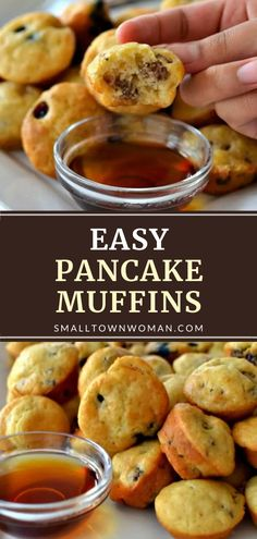 Double this recipe for scrumptious Pancake Muffins! This Father's Day breakfast idea is incredibly easy to make, freezer-friendly, and reheats well in the microwave. Split one batch in half to create sweet and savory homemade treats your family will love on Father's Day! Pancake Muffins, Pancakes Easy, Breakfast Muffins, Pancakes For Dinner, Breakfast Casserole, Father's Day Breakfast, Breakfast Dishes, Fast Breakfast Ideas, School Breakfast