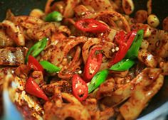 Korean Food | Ojinguh Bokum | Spicy Stir-Fried Squid