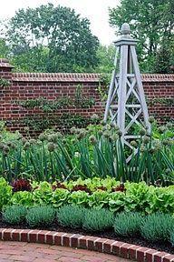 formal vegetable garden - great front garden solution!!