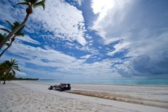 In 2010, the Red Bull Show Car team went over to the Dominican Republic in the Caribbean for one of their most famous show car runs. Jaime Alguersuari became the first Formula One driver to race across a beach, with the sea at Santo Domingo providing a stunning back drop.