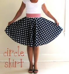 Easy to sew!  Super cute Circle Skirt.