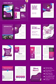 ★ Get 20 items Sheets ebook design template off discount (life time updates! Affiliate Marketing, Content Marketing, Powerpoint Template Free, Keynote Template, Layout Template, Templates, Software, Book Design Layout, Social Media Template