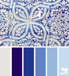 Tiled Blues - http://design-seeds.com/index.php/home/entry/tiled-blues