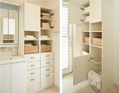 サニタリー Home And Deco, Washroom, Closet Organization, My Room, Living Room Designs, Laundry, House Design, Interior Design, Storage