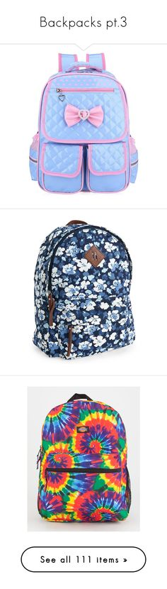 """""""Backpacks pt.3"""" by hotlinejenn ❤ liked on Polyvore featuring bags, backpacks, accessories, classic navy, aeropostale backpacks, blue flower backpack, floral bags, faux-leather backpack, navy blue bag and backpack bags"""