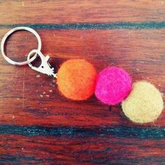 Well there goes that idea. Right I could make these tonight. Some beat me to it! Felt ball key rings