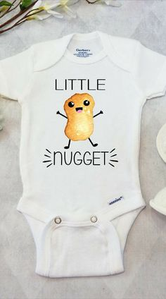 Little Nugget Onesies® Brand Bodysuit Fast Food Baby Shirt Funny Baby Clothes Unisex Baby Shower Gifts Baby Boy Baby Girl Foodie Lil Nugget Naming Your Baby in the Year 2016 Megan Carey-Wheeler Zoe Li Funny Baby Shirts, Funny Baby Clothes, Unisex Baby Clothes, Funny Babies, Girl Shirts, Little Boy Outfits, Baby Boy Outfits, Kids Outfits, Unisex Baby Shower