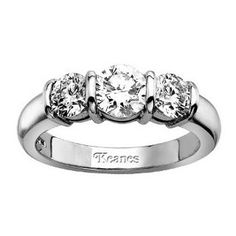 three stone diamond ring settings - Google Search