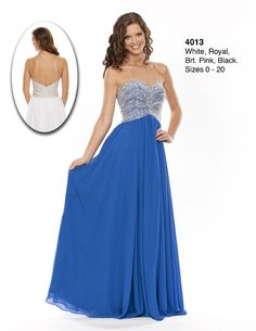 Wow! Prom and Pageant Style 4013. Now in stock at Bri'Zan Couture www.brizancouture.com