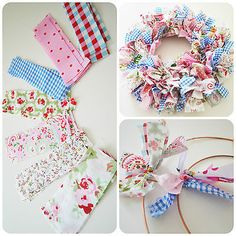 Make Your Own Handmade Shabby Chic Rag Wreath                                                                                                                                                                                 More