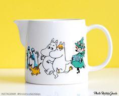 Arabia Muumi Iloinen perhe, kaadin Moomin Mugs, Tove Jansson, Give It To Me, How To Make, Finland, Pots, Tableware, Amazing, Design