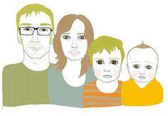 Awesome custom family portraits