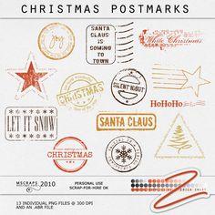 Christmas Postmarks :: Christmas :: Shop by Theme :: Memory Scraps