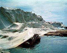 Christo and Jeanne-Claude - Wrapped Coast, One Million Square Feet,  Little Bay, Australia, 1968-69