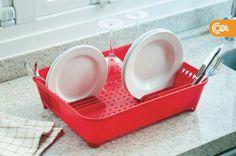 O novo escorredor de louças leva o design Coza para o seu dia a dia. Não acumula água e pode ser utilizado para vários formatos de pratos, tanto grandes quanto pequenos.   Pra comprar é só clicar.