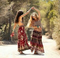 Dancing in the forest with my best friend.