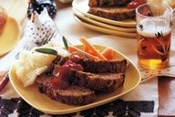 All the robust flavor of the classic meatloaf has been left in, but the calories have been lightened by using ground turkey instead of beef. Sauted shallots, carrots, and mushrooms, plus a touch of sage, makes it extra savory - Mary Engelbreits Dinner-Style Meatloaf