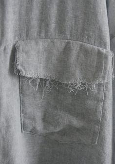 Frayed Flap Pocket - sewing inspiration; distressed pocket detail; textiles; fashion design details