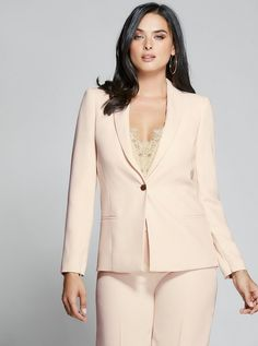 Elsy Zip-Sleeve Blazer at Guess Chic And Curvy, All Things New, Online Purchase, Curvy Fashion, Sexy Dresses, Style Icons, Classy, Silhouette, Zipper