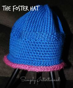 A Simple hat I made for a child in the Foster care system. --Virginia of Simply Intertwined.