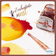 Winsor & Newton Zeichentinten werden aus hochwertigen Farbstoffen hergestellt. Die Verwendung von Farbstoffen erzeugt helle Farben und macht diese zu den perfekten Tinten, um reichhaltige und lebendige Kunstwerke zu schaffen. #winsor&newton #drawingink #zeichentinte #kreativ #künstler #maler #josalzburg #farbensteger Grapefruit, Ink, Food, Bright Colours, Canvas Frame, Cardboard Paper, Artworks, Creative, Essen