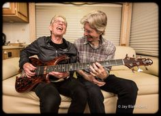 to the Phil Lesh! Phil has been a friend of Jefferson Airplane's since the days of San Francisco in the Leave Phil a birthday message in the comments! — (Picture of Jack Casady & Phil Lesh having a grand ol' time taken by Jay Blakesberg) John Perry Barlow, Phil Lesh And Friends, Mickey Hart, Great Society, Jefferson Starship, Jerry Garcia Band, Dead Pictures, Bob Weir, Guitars