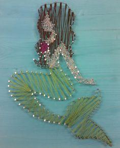 Mermaid string art by Joana
