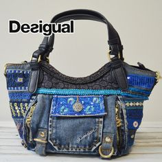 【楽天市場】DESIGUAL 秋冬新作 バッグ デシグアル デニム ミニボストン エスニック ショルダーバッグ レディース:selectshopGREEN Bag Patterns, Denim Bag, Balenciaga City Bag, Hand Bags, Purses And Bags, Porch, Shoulder Bag, Fashion, Fabric Handbags