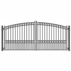 Steel Swing Gates for Sale Wrought Iron Driveway Gates, Driveway Entrance, Metal Gates, Front Gates, Entrance Gates, Metal Fences, Steel Fence, Fencing, Gates For Sale