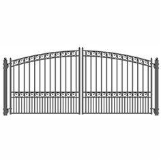 Steel Swing Gates for Sale Wrought Iron Driveway Gates, Driveway Entrance, Metal Gates, Front Gates, Entrance Gates, Iron Main Gate Design, Wrought Iron Gate Designs, Gates For Sale, Tor Design