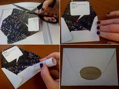 DIY Map Envelopes: What a fun idea!